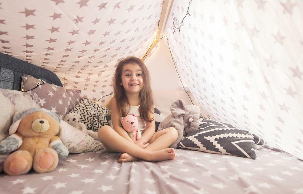 Namiot dla dzieci. Zdjęcie ilustracyjne