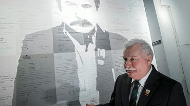 Lech Wałęsa podczas otwarcia Europejskiego Centrum Solidarności