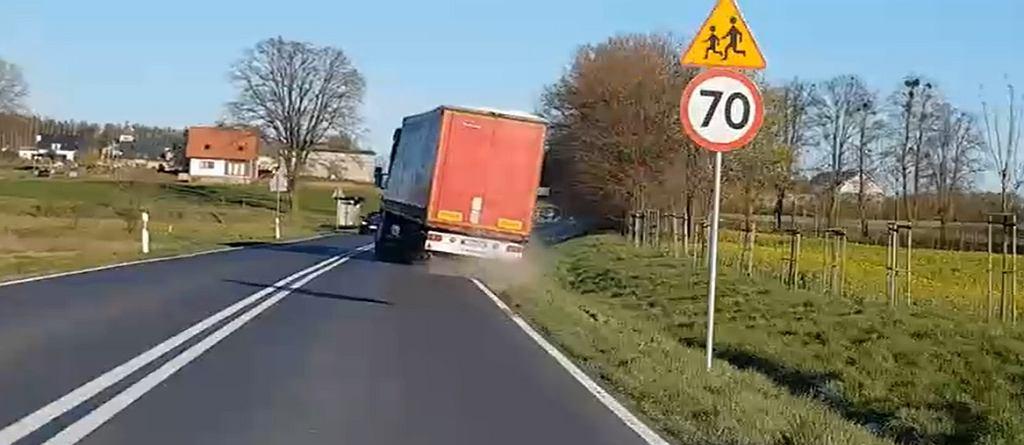 Rajd ciężarówki przez Iławę. Kierowca miał 2,5 promili we krwi