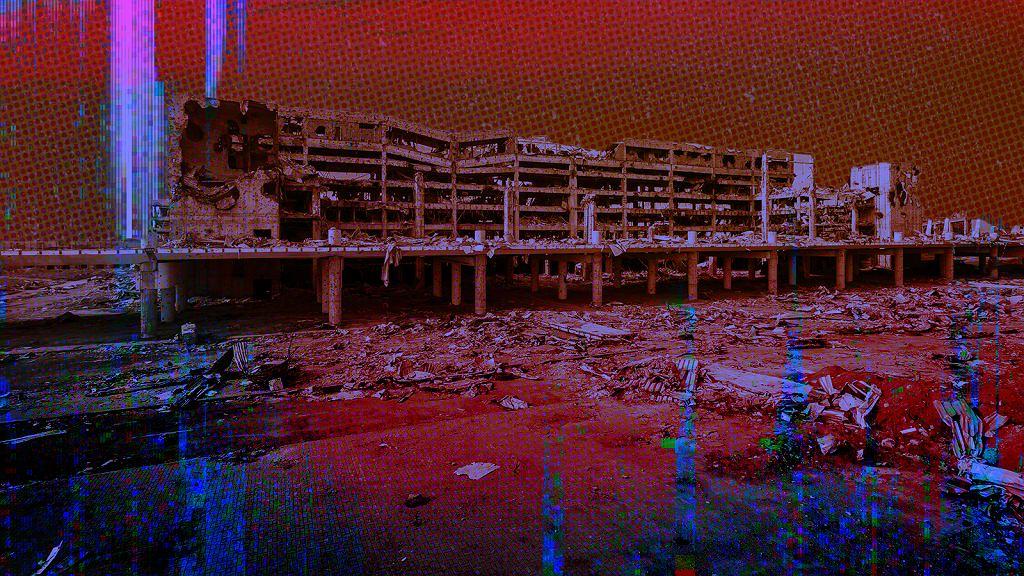 Ruiny lotniska w Doniecku