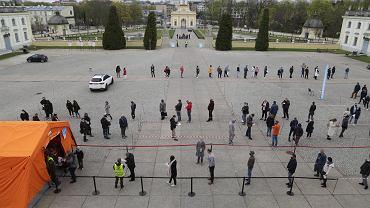 Zaszczep się w majówkę. Punkt szczepień pod Pałacem Branickich w Białymstoku