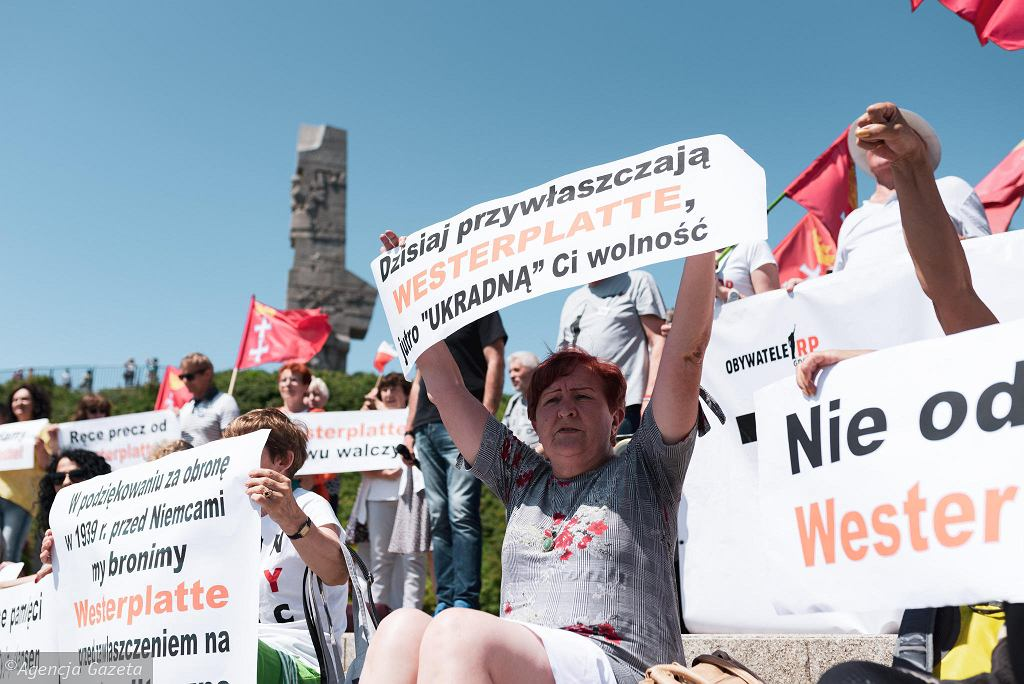 29 czerwca 2019, Demonstracja 'Gdańsk broni Westerplatte'