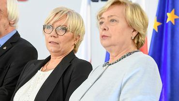Julia Przyłębska i Małgorzata Gersdorf. Wręczenie zaświadczeń o wyborze na posła do Parlamentu Europejskiego, Warszawa 31.05.2019