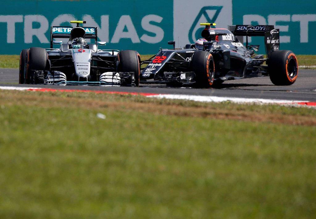 Grand Prix Malezji. Nico Rosberg i Jenson Button