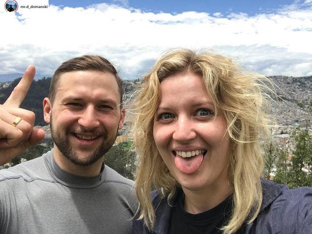Aleksandra Domańska z bratem