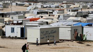 Obóz dla uchodźców z Syrii w jordańskim mieście Mafraq