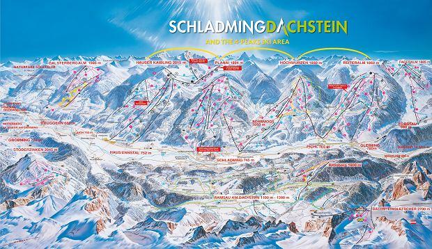 Mapa tras Schladming-Dachstein