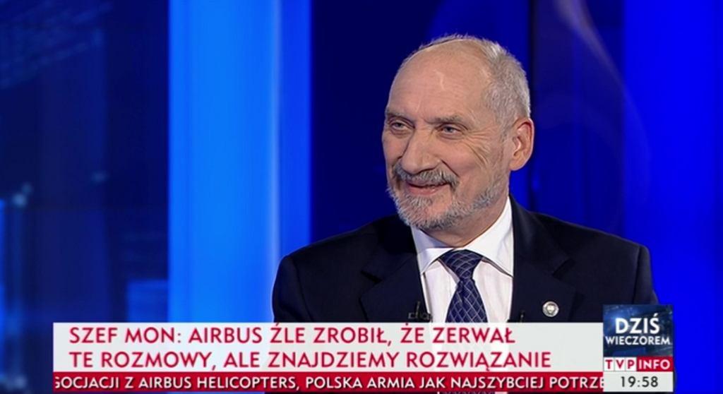 Antoni Macierewicz był gościem w TVP Info