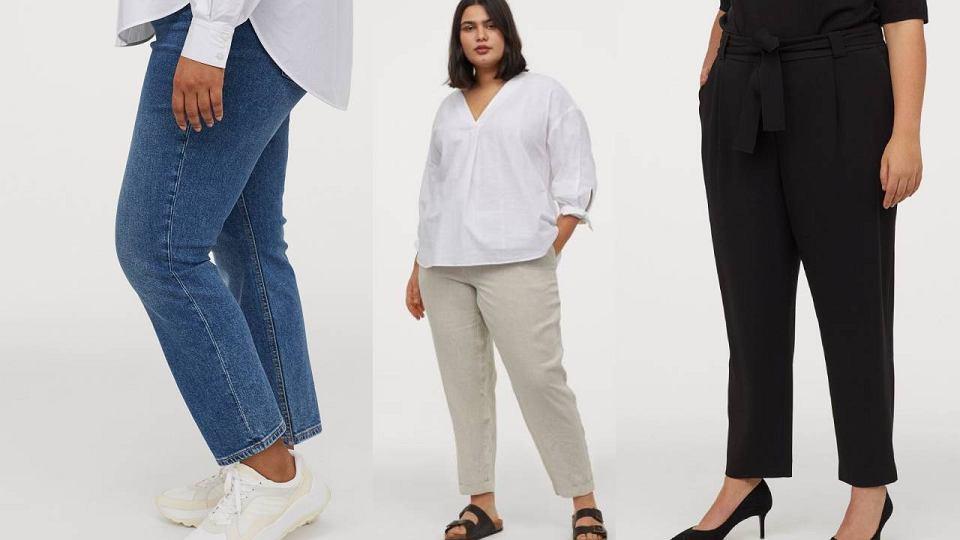 Spodnie dla puszystych H&M+