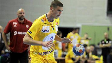 Branko Vujović podczas meczu Vive Tauron Kielce - Zagłębie Lubin