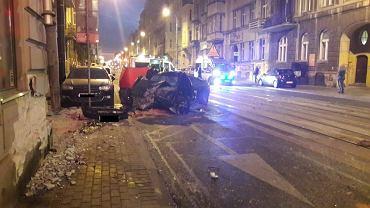 Wypadek na ul. Narutowicza w Łodzi