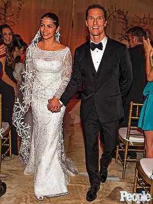 ślub, suknia ślubna, camila alves, matthew mcConaughey