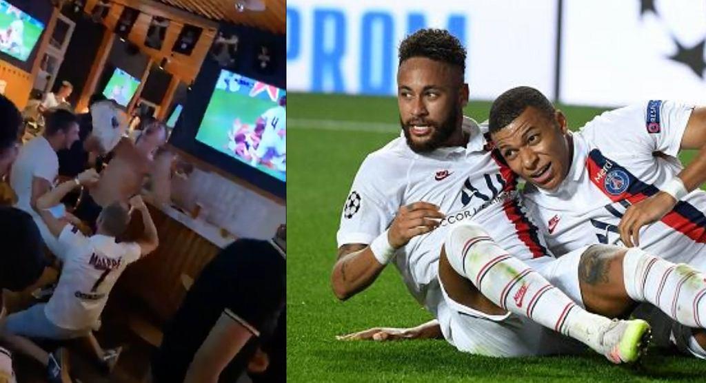 Fani PSG celebrowali awans do półfinału Ligi Mistrzów po szalonej końcówce meczu z Atalantą