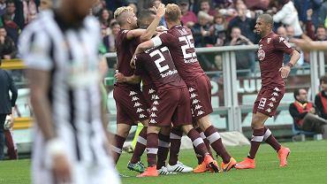 Torino - Juventus Turyn 2:1. Radość graczy Torino