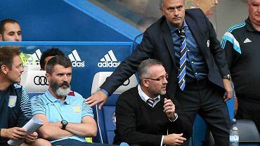 Chelsea - Aston Villa 3:0. Roy Keane, Paul Lambert i Jose Mourinho