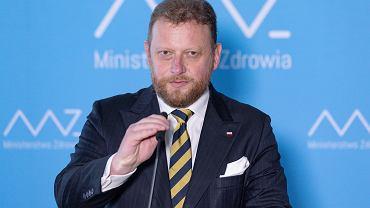 18.08.2020, Warszawa, konferencja prasowa na której do dymisji podał się minister zdrowia Łukasz Szumowski.