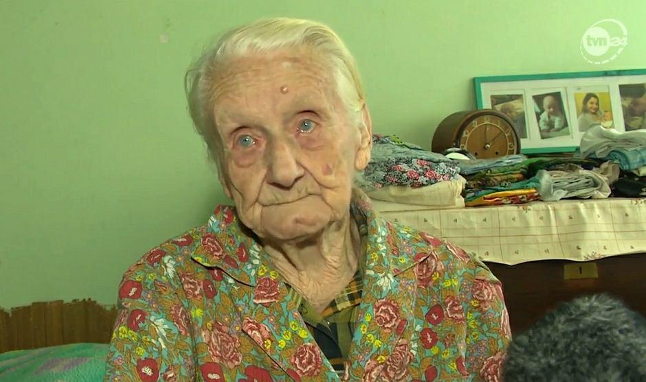 99-letnia pani Ewa została okradziona we własnym domu / Fot. TVN24 Katowice