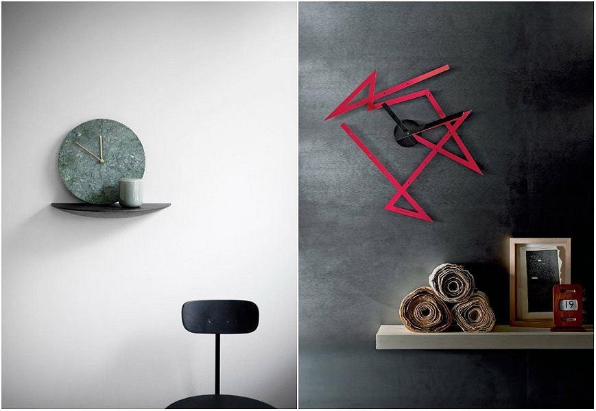 Nowoczesne i minimalistyczne zegary ścienne to świetna ozdoba mieszkania.