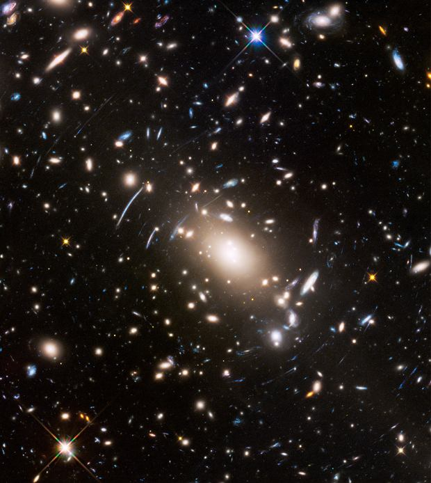 Hubble image of Abell S1063