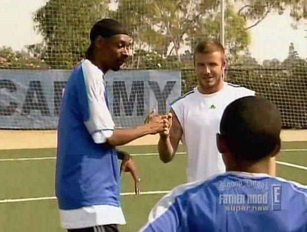 Snoop Dogg i David Beckham