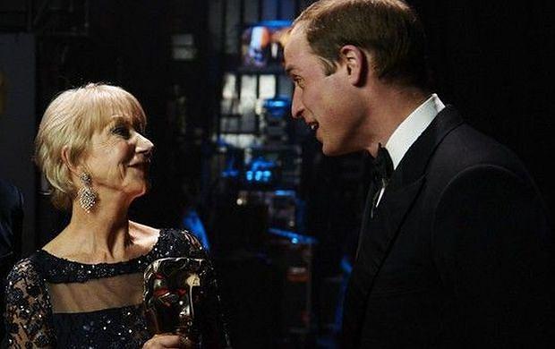 Helen Mirren i książę William