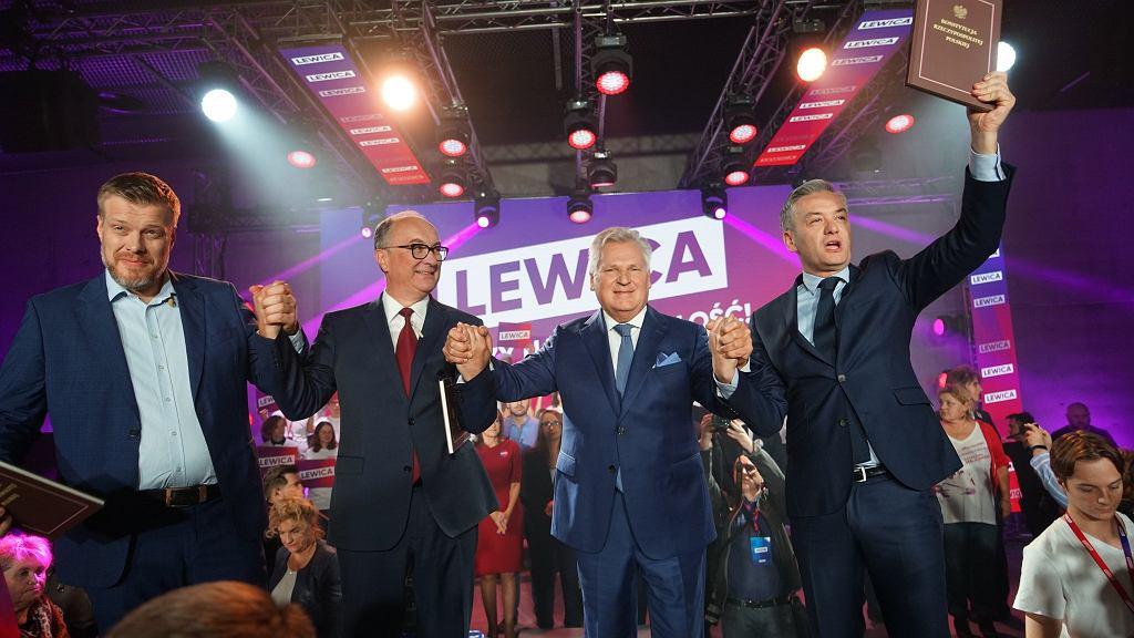 Aleksander Kwaśniewski na konwencji Lewicy