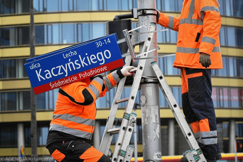 Zmiana tablic z nazwą ulicy