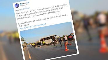 Wypadek autobusu w Turcji