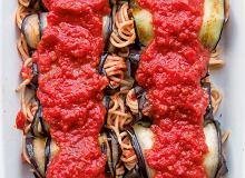 Roladki z bakłażana ze spaghetti - ugotuj