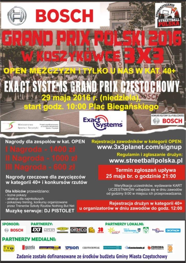 Zaproszenie na Grand Prix Częstochowy w Koszykówce 3X3
