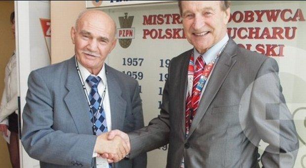 Marian Kasprzyk (z lewej) i Stanisław Oślizło