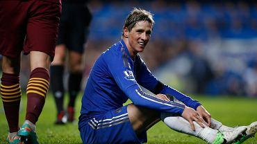 Fernando Torres podczas meczu z City