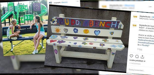 """Genialny sposób, który zapobiega wykluczaniu dzieci. Chodzi o """"ławkę przyjaźni"""""""