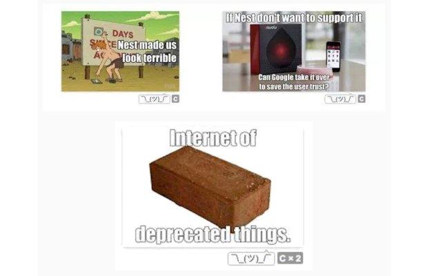 Przykładowe memy, które wyciekły z wewnętrznej grupy pracowników Gogle'a