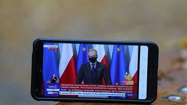 Konferencja Premiera Mateusza Morawieckiego online