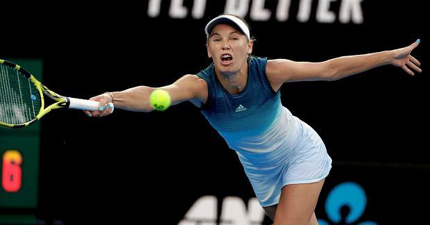 Carolina Wozniacki w stroju firmy Adidas w Australian Open
