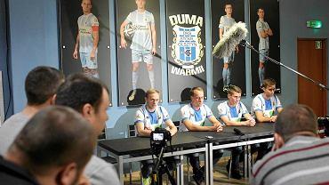 Piłkarze Stomilu Olsztyn o trudnej sytuacji w klubie poinformowali podczas specjalnie zwołanej konferencji prasowej