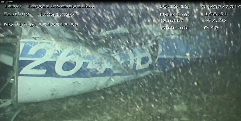 Wrak samolotu, którym leciał Emiliano Sala