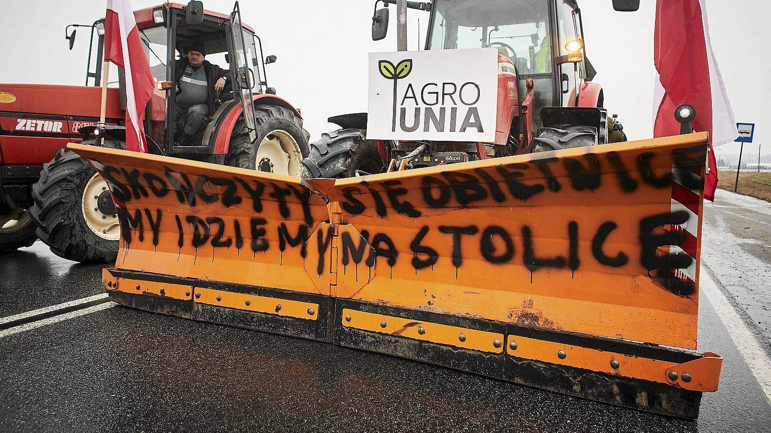 Rolnicy blokują drogę krajową nr 91, 28 stycznia