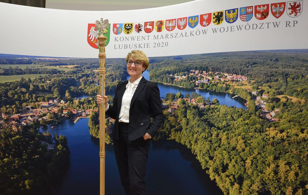 Konwent Marszałków RP, Zielona Góra 26 listopada 2020. Na zdj. Elżbieta Polak, marszałek woj. lubuskiego