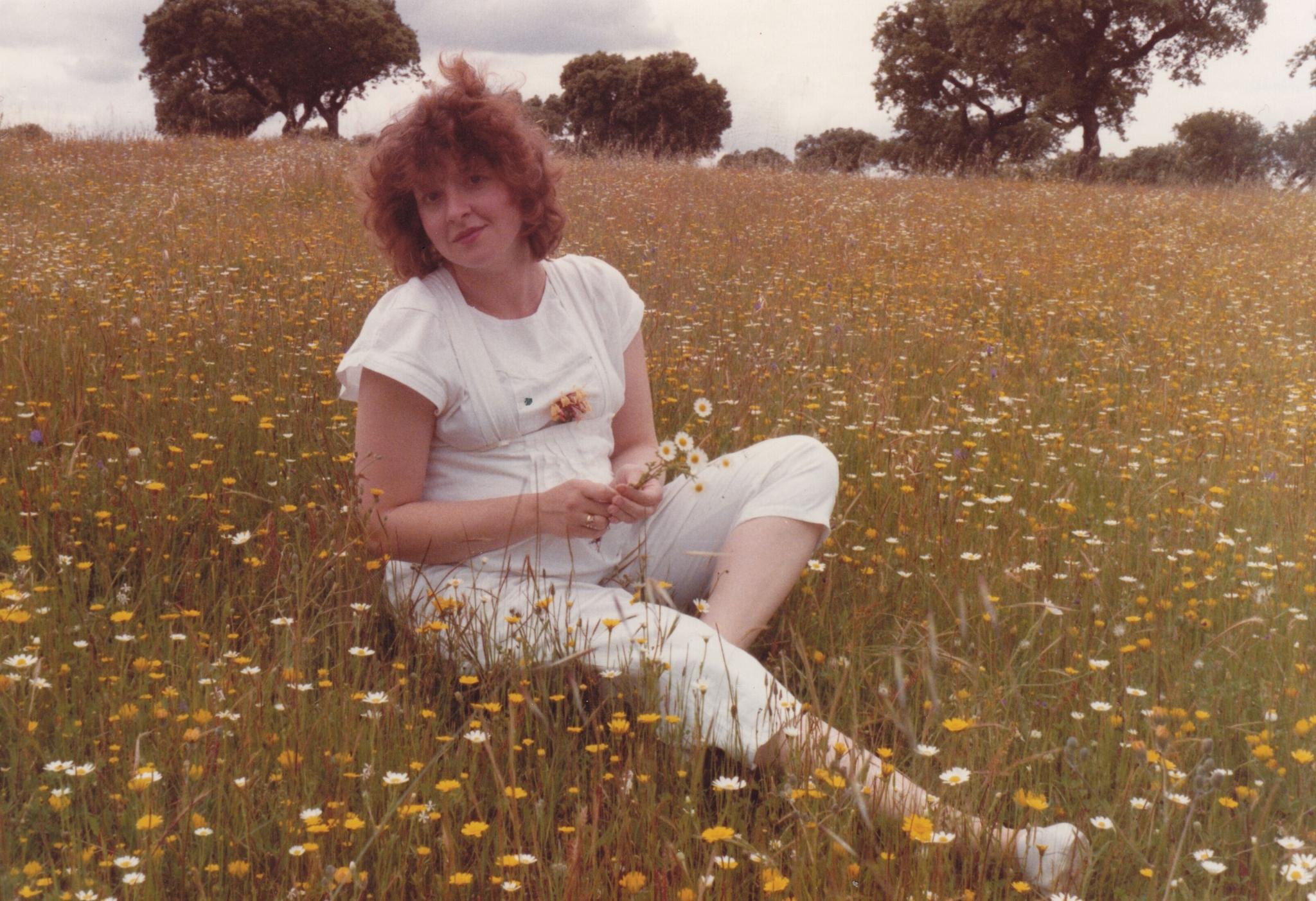 W Portugalii, w ciąży z córeczką, 1983 rok (fot. archiwum prywatne)