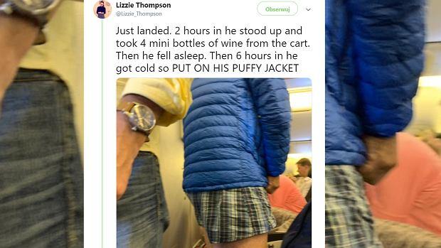 Pasażer spędził ponad 10-godzinny lot w bokserkach. Rozebrał się tuż po wejściu na pokład