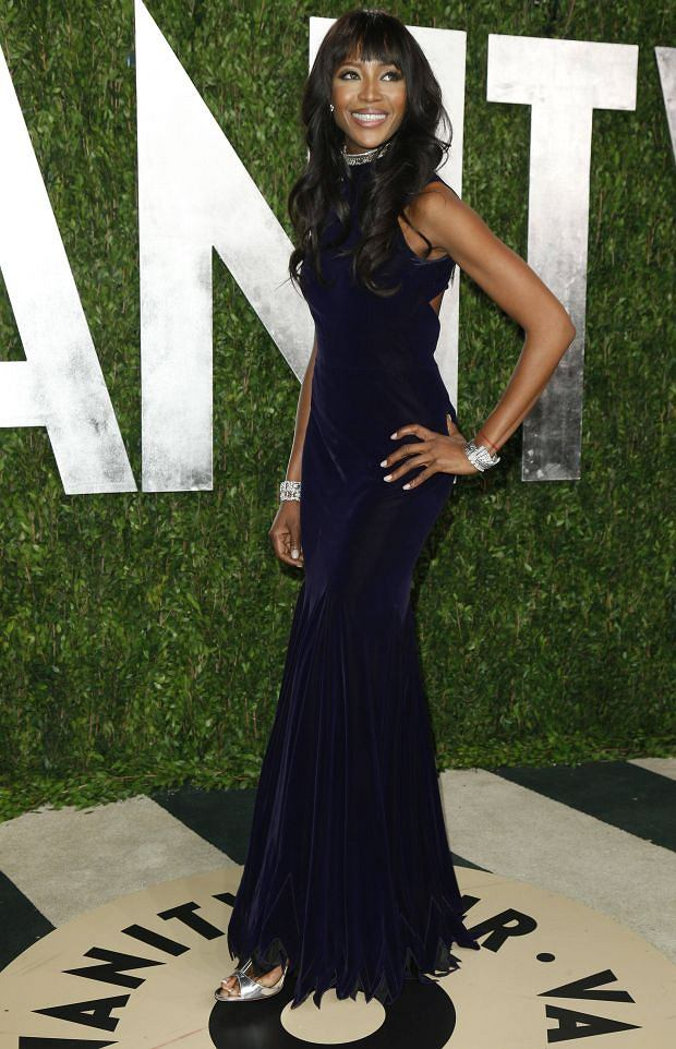 Naomi Campbell attends the 2013 Vanity Fair Oscars Party in West Hollywood, California February 24, 2013.  REUTERS/Danny Moloshok  (UNITED STATES TAGS:ENTERTAINMENT) (OSCARS-PARTIES)