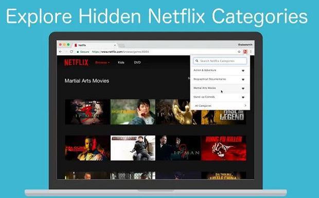 Rozszerzenie pozwala odkryć tysiące kategorii Netflixa