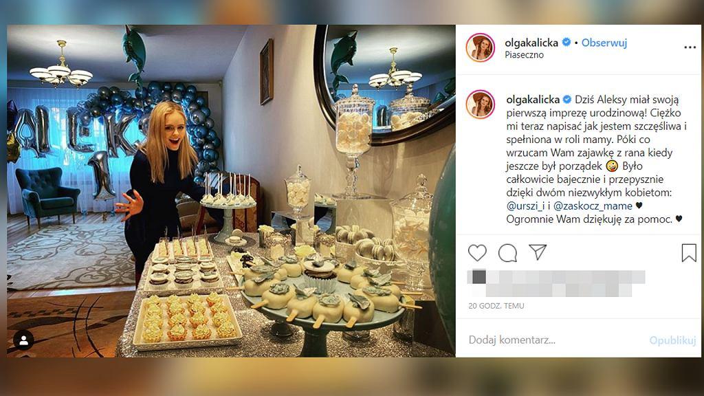 Olga Kalicka przygotowała imprezę urodzinową synka