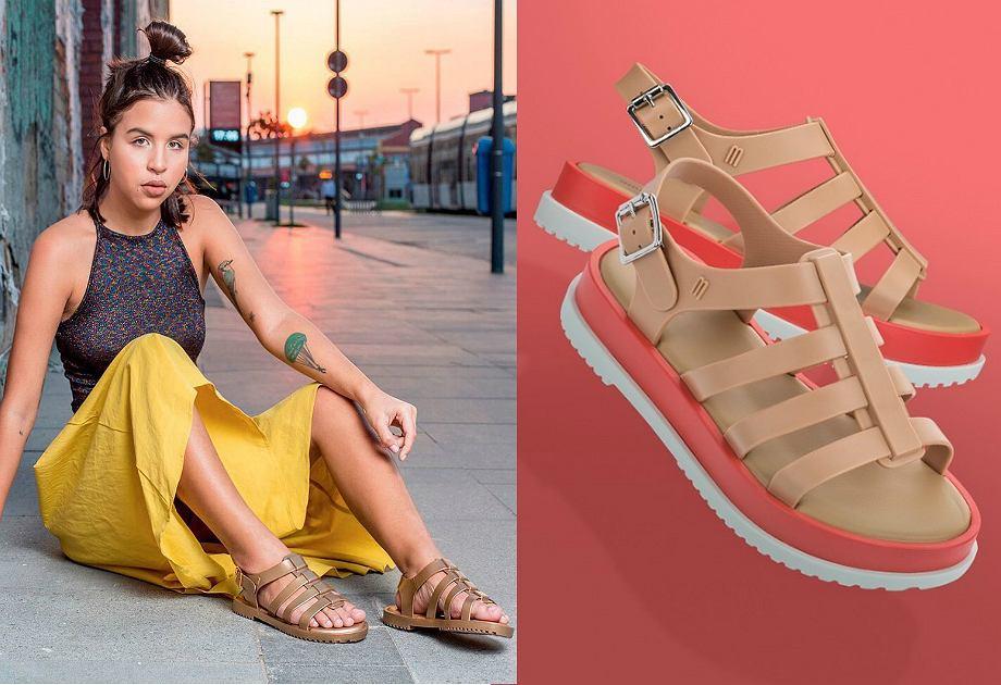 Sandały Melissa typu rzymianki