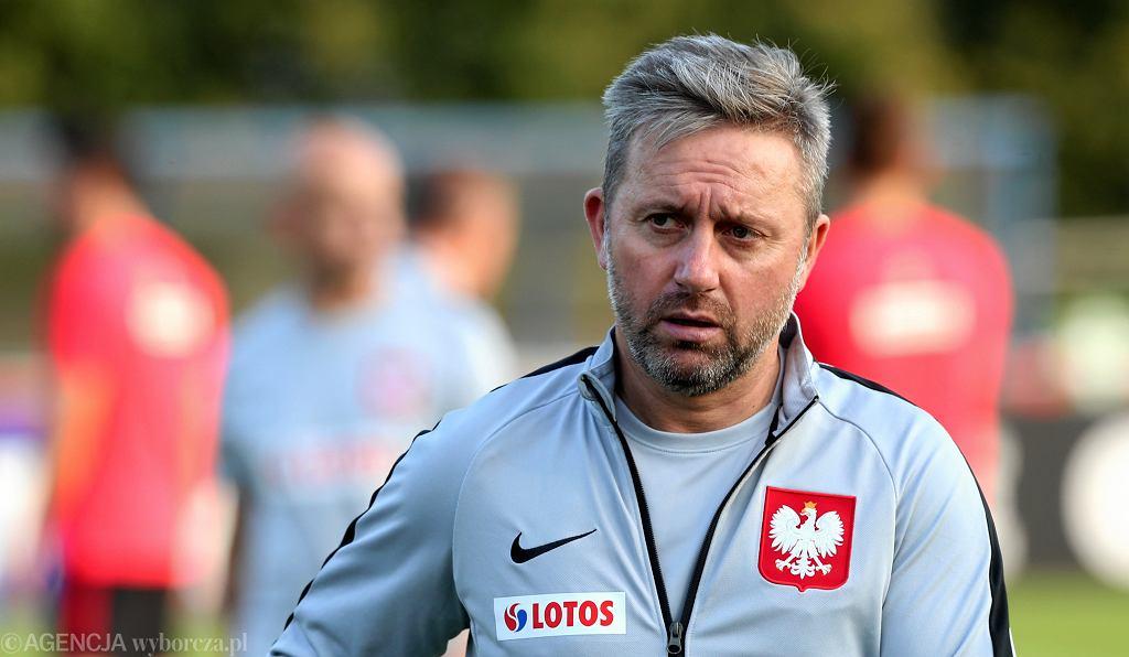 Jerzy Brzęczek podczas treningu reprezentacji Polski
