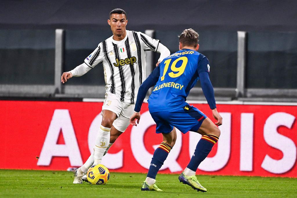 Cristiano Ronaldo podczas meczu Juventus - Udinese