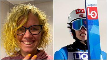 Marit Egner, mama Halvora Egnera Graneruda, zafarbowała sobie włosy na żółto, gdy syn został liderem Pucharu Świata