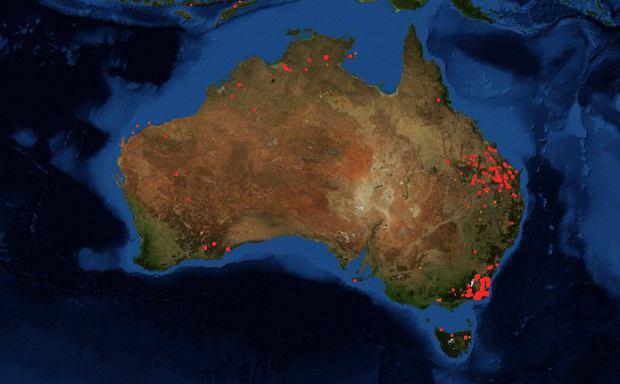 Pożary w Australii - 30 stycznia 2020 r.